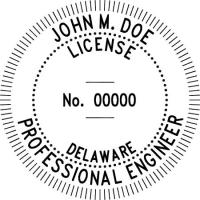 Delaware Engineer Embossing Seal