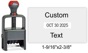 E-916 Shiny Self Inking Stamp Shiny Heavy Duty E-916 Shiny E-916 Essential Self-Inking Dater