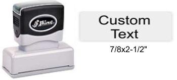 "Shiny EA-150 Premier Stamp 7/8"" x 2-1/2"""