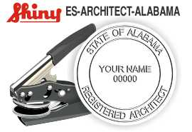 ALABAMA Architect Embossing Seal
