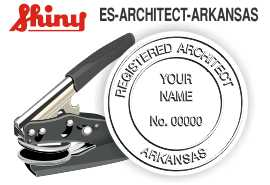 Arkansas Architect Embossing Seal