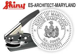 Maryland Architect Embossing Seal