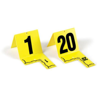 Cut-Out ID Tents, 21-40, Yellow