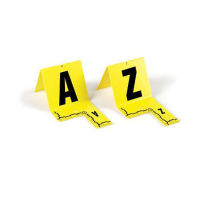 Cut-Out ID Tents, A-Z, Yellow