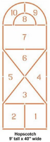 "Hopscotch Stencil 40"" x 108"""