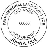 IDAHO Self-Inking State Surveyor Stamp