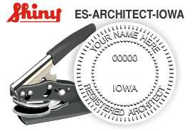 Iowa Architect Embossing Seal