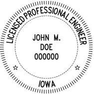 Iowa Engineering Stamp