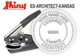Kansas Architectural Hand Held Embossing Seal