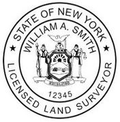 New York Pre-Inked Surveyor Stamp