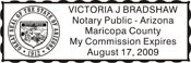 Arizona Self-Inking Notary Stamp