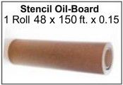 Stencil Oil Board Roll