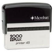 2000 Plus Printer P-45 Self Inking Stamp