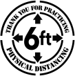 Social Distancing ABS Plastic Stencil