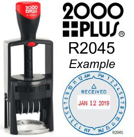 2000 Plus R2045 Round Time Date Stamp