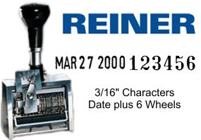 Reiner 307/DR, 6-Wheels + Dater