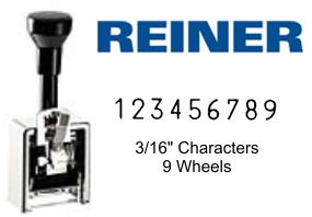 Reiner 323, 9-Wheel Numbering Machine