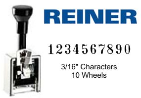 Reiner 324, 10-Wheel Numbering Machine