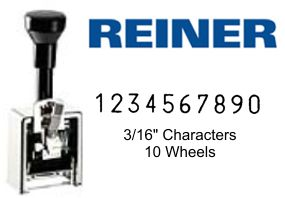 Reiner 325, 10-Wheel Numbering Machine
