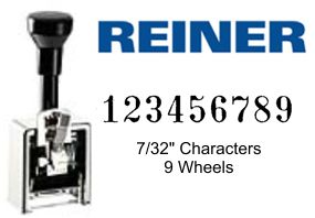 Reiner 732/9, 9-Wheel Numbering Machine