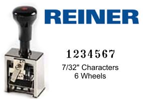 Reiner 732 6-Wheel Numbering Machine
