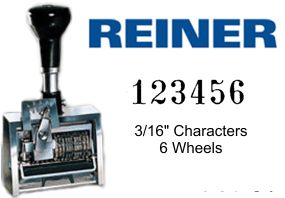 Reiner ND6K Economy 6-Wheel Numbering Machine