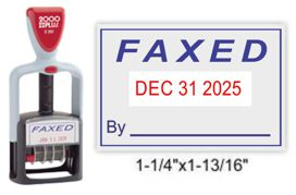 S-360 FAXED - 2 Color Red/Blue Stock Dater