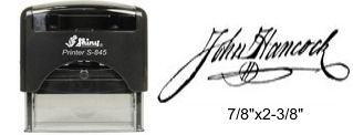 Self-Inking Signature Stamp