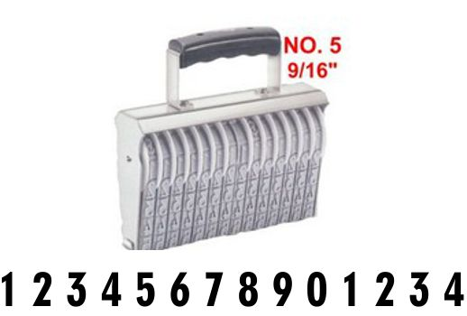 Shiny Size 5-14 Numbering Band Stamp