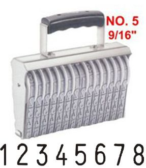 Shiny Size 5-8 Numbering Band Stamp