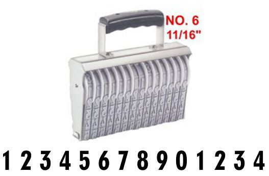 Shiny Size 6-14 Numbering Band Stamp