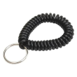 Wrist Coil With Key Ring - Black