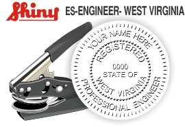 West Virginia Engineer Embossing Seal