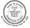Tennessee Notary Embosser
